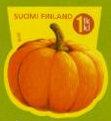 Pompoen postzegel Finland