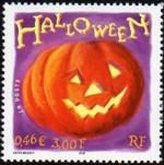 Halloween postzegel Frankrijk
