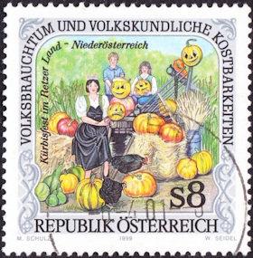 Pompoen postzegel Oostenrijk