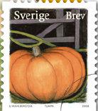 Pompoen postzegel Zweden 2008